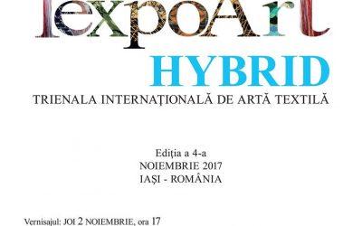 """TRIENALA INTERNAȚIONALĂ DE ARTĂ TEXTILĂ – """"TEXPOART – HYBRID"""" – EDIȚIA A IV-A"""
