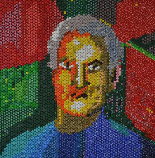 Sergent Anastasiu V. Vasile 200x200 cm mozaic de capace
