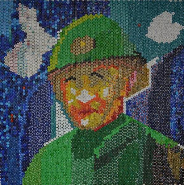 Sergent major T.R. Botan V. Vsevolod 200x200 cm mozaic de capace