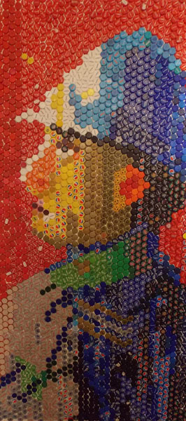 Soldat italian necunoscut 200x100 cm mozaic de dopuri