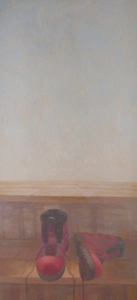 George Cernat Ascendent, 2011, ulei pe panza, 150 cm x 70 cm