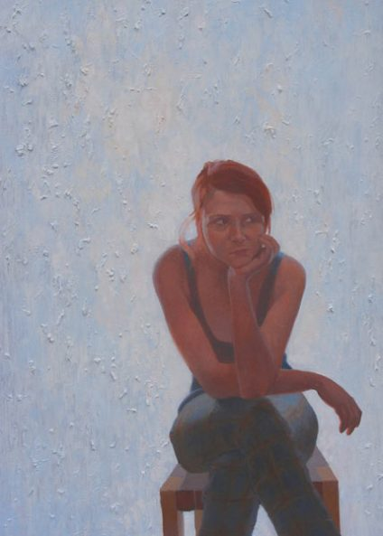 George Cernat, Rabdare, ulei pe panza,130 cm X 90 cm