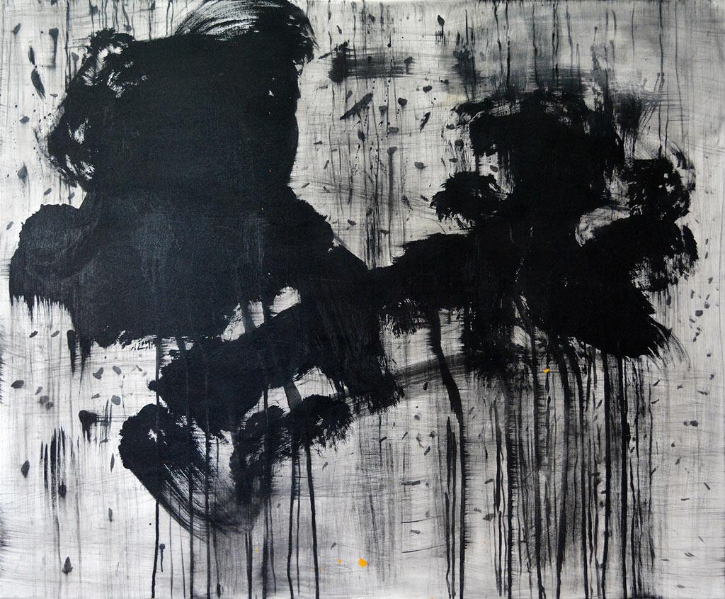 Echilibru acrylic pe pânză, 100x120cm, 2015