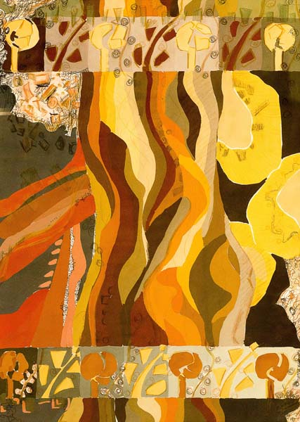 Evoluție I, tempera pe foaie 50x70 cm_2