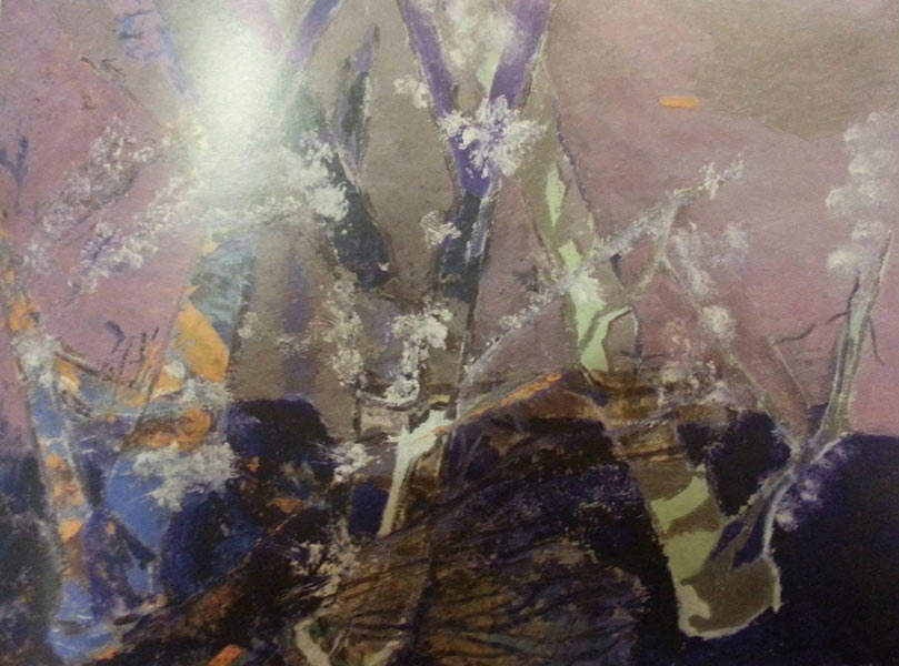Gitlan Carmen, Luminis in floareulei pe panza, 100x70 2016