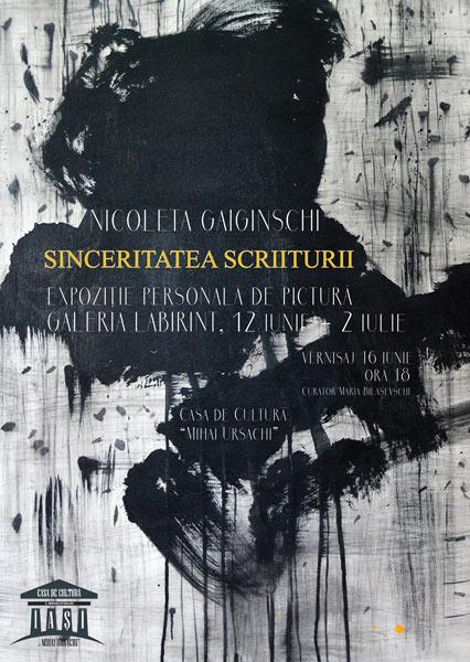Nicolaeta Gaiginschi Sinceritatea scriiturii