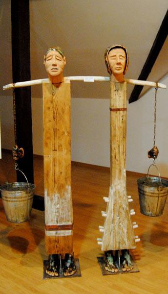 Senectute 2 1,70cm,50cm, Tehnica mixta (lemn, ceramica)