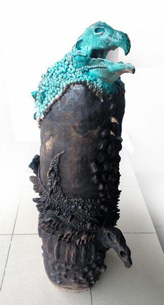 Totem 90cm 25cm Ceramica glazurata