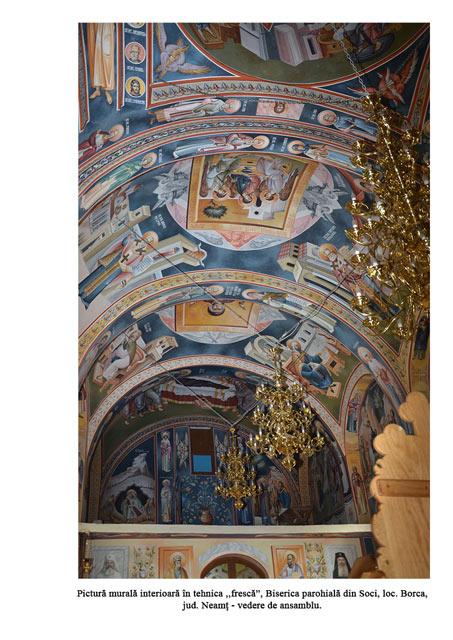 Fresca biserica parohiala din Soci loc Borca jud Neamt vedere de ansamblu