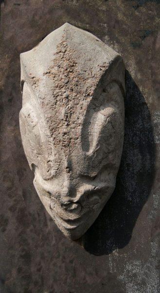 Mască-Ceramică-angobe-44-19-17-cm