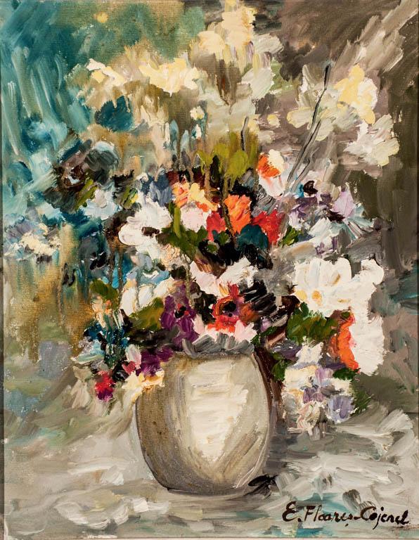 Flori, ulei pe pânză, 40 x 50 cm