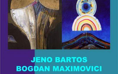 """EXPOZIȚIE DE PICTURĂ – ,,EXPLORĂRI ASTRALE"""" – JENO BARTOȘ ȘI BOGDAN MAXIMOVICI"""