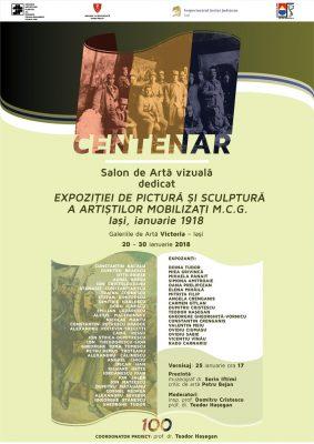 CENTENAR---SALON-DE-ARTĂ-VIZUALĂ-DEDICAT--EXPOZIȚIEI-DE-PICTURĂ-ȘI-SCULPTURĂ-A-ARTIȘTILOR-MOBILIZAȚI-M.C.G.-IAȘI,-IANUARIE-1918