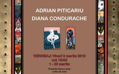 EXPOZIȚIE DE ARTĂ – DIANA CONDURACHE ȘI ADRIAN PITICARIU