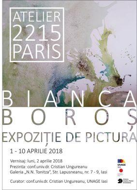 EXPOZIȚIE DE PICTURĂ - ATELIER 2215 - PARIS - BIANCA BOROȘ