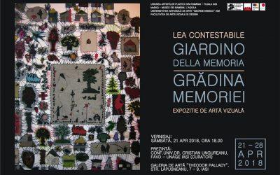 """EXPOZIȚIE DE ARTĂ VIZUALĂ – ,,GRĂDINA MEMORIEI"""" – LEA CONSTABLE"""