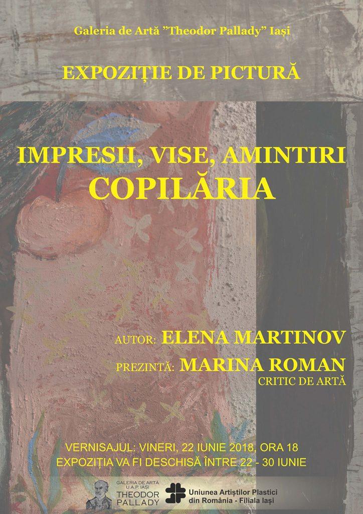 ",,IMPRESII, VISE, AMINTIRI, COPILĂRIA"" – ELENA MARTINOV"