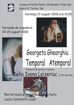 """EXPOZIȚIE DE PICTURĂ ȘI GRAFICĂ ,,TEMPORAL ATEMPORAL""""- GEORGETA GHEORGHIU"""