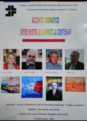ACCENTE CROMATICE ÎNTRE NISTRU ȘI CARPAȚI LA CENTENAR