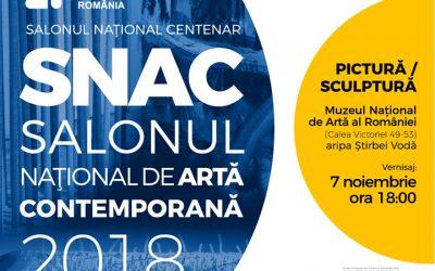 """SALONUL NAȚIONAL CENTENAR  ,,SNAC""""  –  SALONUL NAȚIONAL DE ARTĂ CONTEMPORANĂ  2018"""