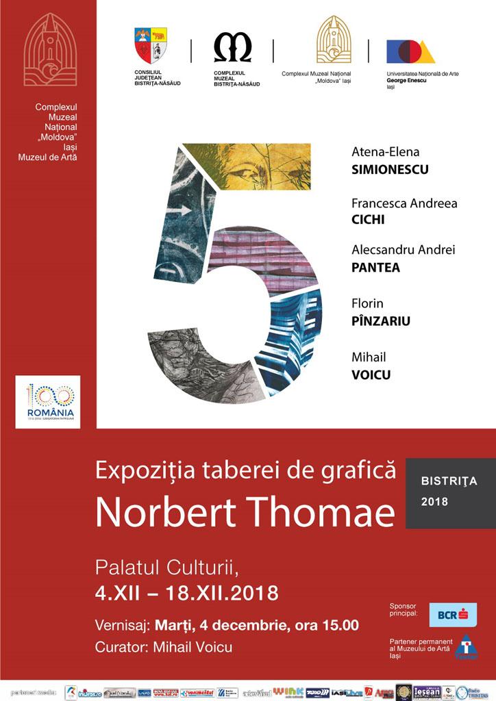 "EXPOZIȚIE TABEREI DE GRAFICĂ NORBERT THOMAE (BISTRIȚA 2018) - ,,5"""
