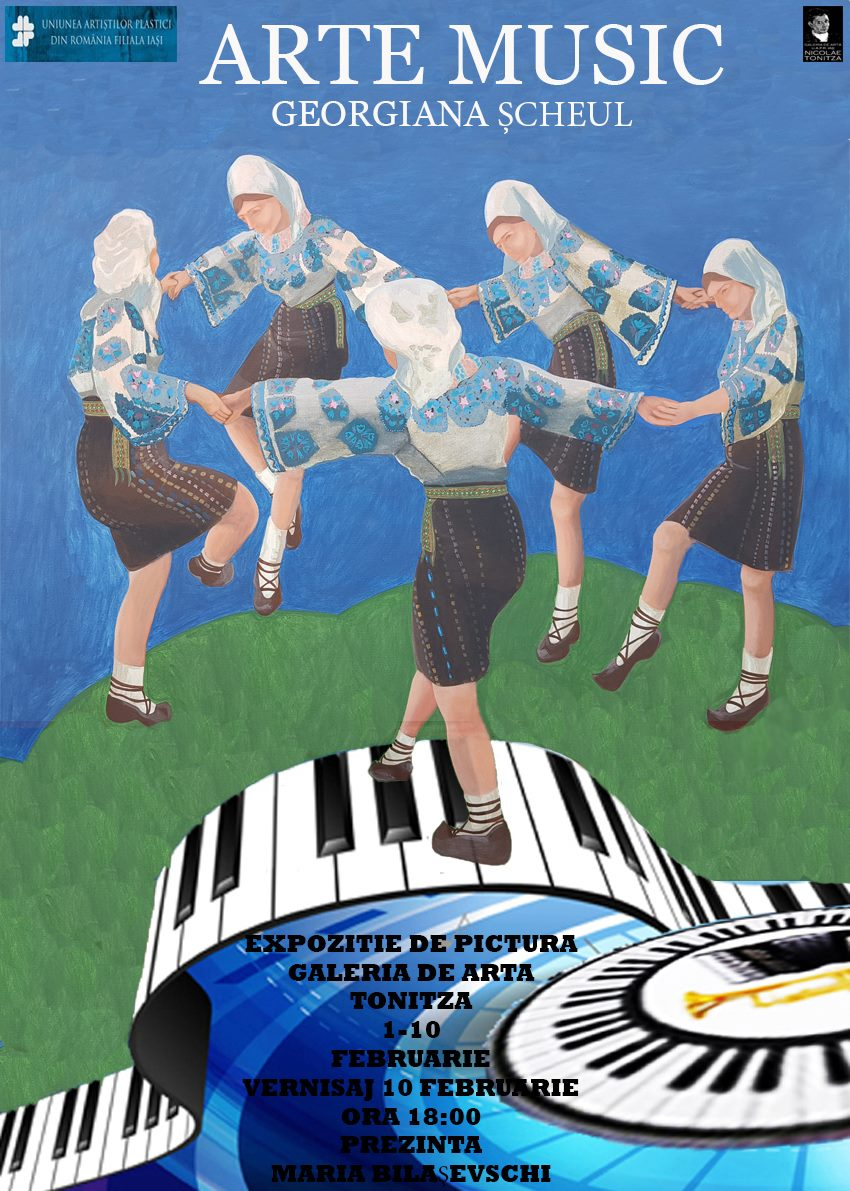 """EXPOZIȚIE DE PICTURĂ - ,,ARTE MUSIC"""" – GEORGIANA ȘCHEUL"""