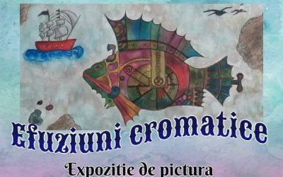 """EXPOZIȚIE DE PICTURĂ – ,,EFUZIUNI CROMATICE"""" – OTILIA ALEXANDRA  IUTIȘ"""