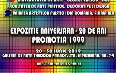 EXPOZIȚIE ANIVERSARĂ – 20 DE ANI – PROMOȚIA 1999