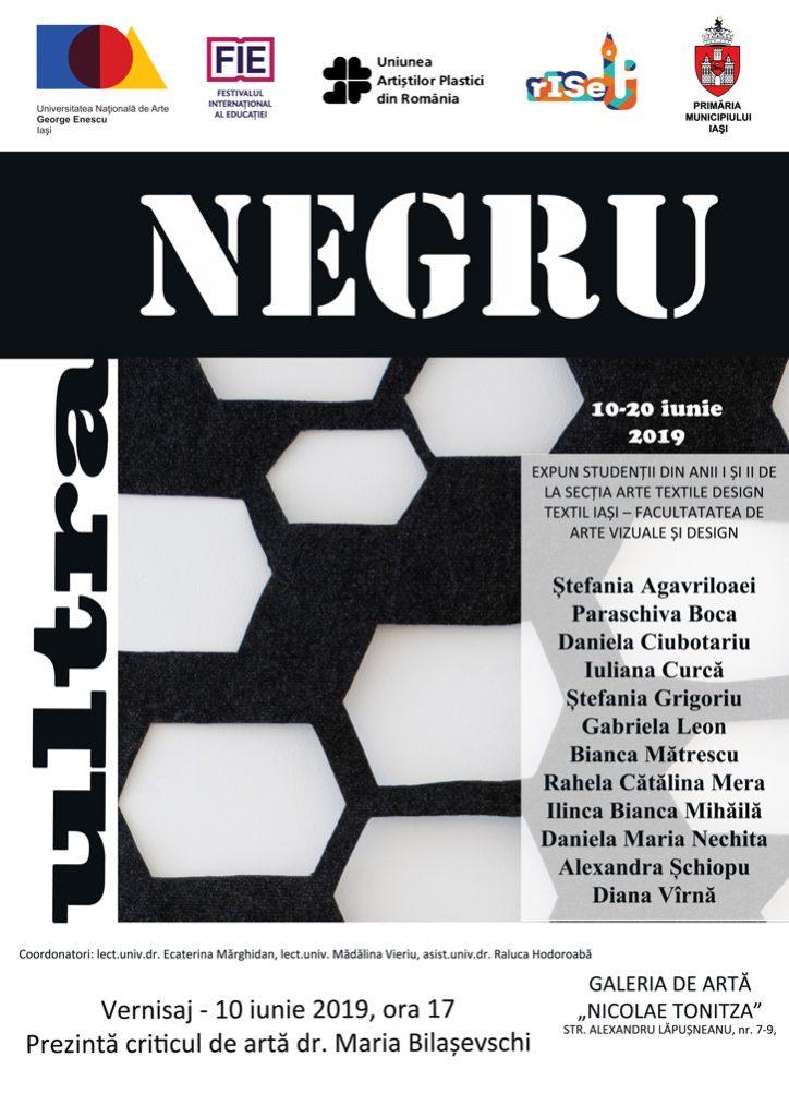 """EXPOZIȚIE-DE-ARTĂ-TEXTILĂ-–-,,ULTRA-NEGRU"""""""
