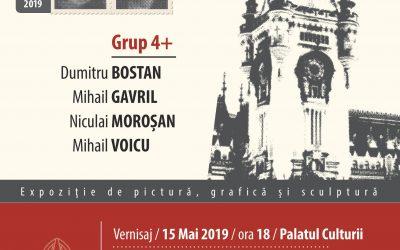 EXPOZIȚIE DE PICTURĂ, GRAVURĂ ȘI SCULPTURĂ – GRUP 4+