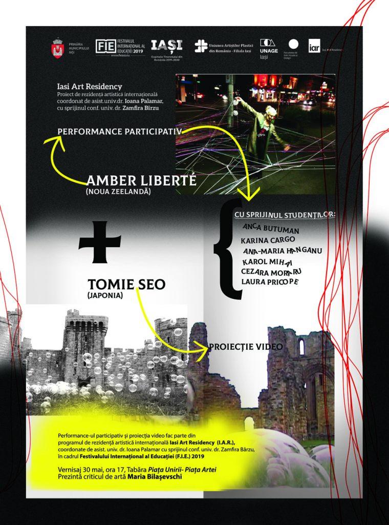 PERFORMANCE PARTICIPATIV - AMBER LIBERTE ȘI PROIECȚIE VIDEO – TOMIE SEO