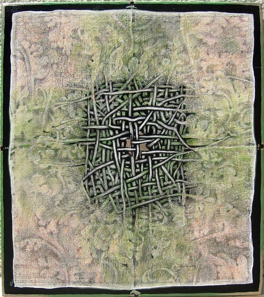 Studiu vegetal 2 - ornamentica, 2004, tehnica mixta, 40x50,5cm