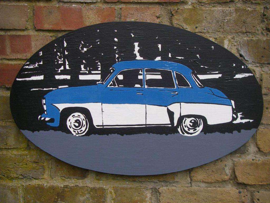 Nostalgia, 2014, Acrylic and enamel on board, 40x65cm