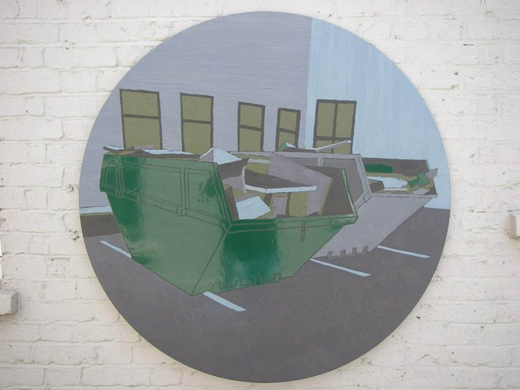 Small Monuments to Uncertainty, 2008, Oil, acrylic and enamel on board, 122,5cm diameter