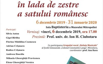 """EXPOZIȚIE DE PICTURĂ ȘI SCULPTURĂ – """"LUMINĂ ȘI CULOARE ÎN LADA DE ZESTRE A SATULUI ROMÂNESC"""""""