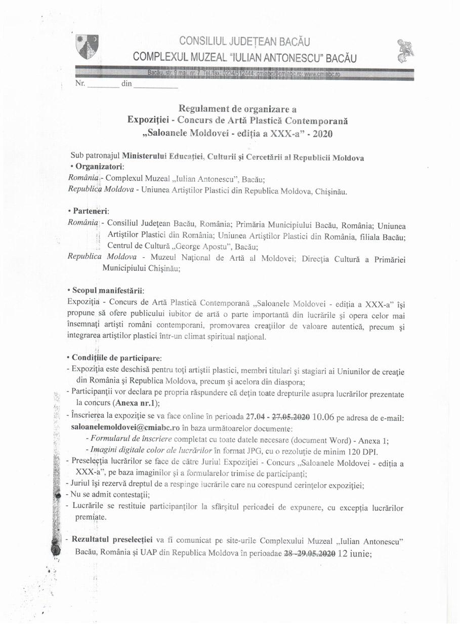 regulament saloanele Moldovei
