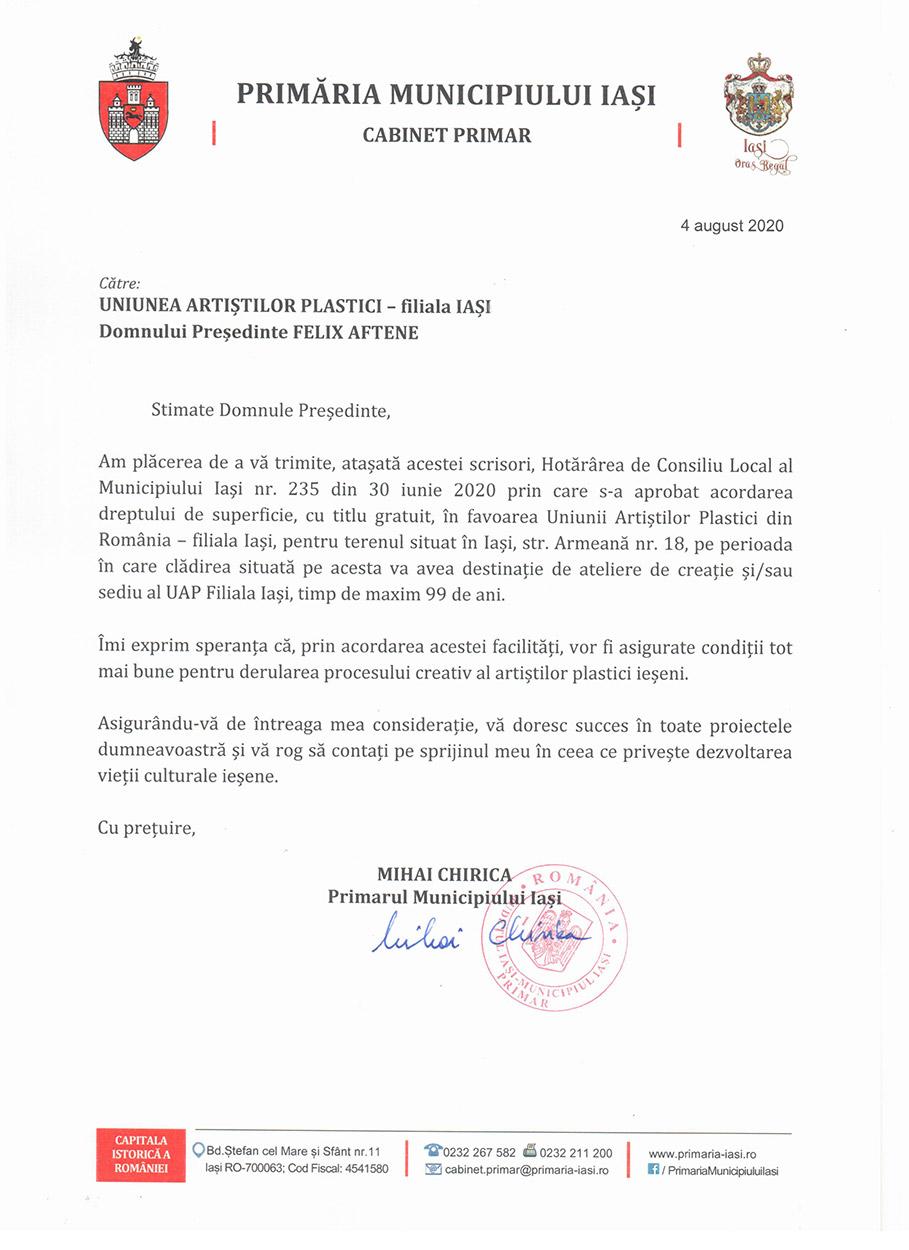 Scrisoare Primarie HCL