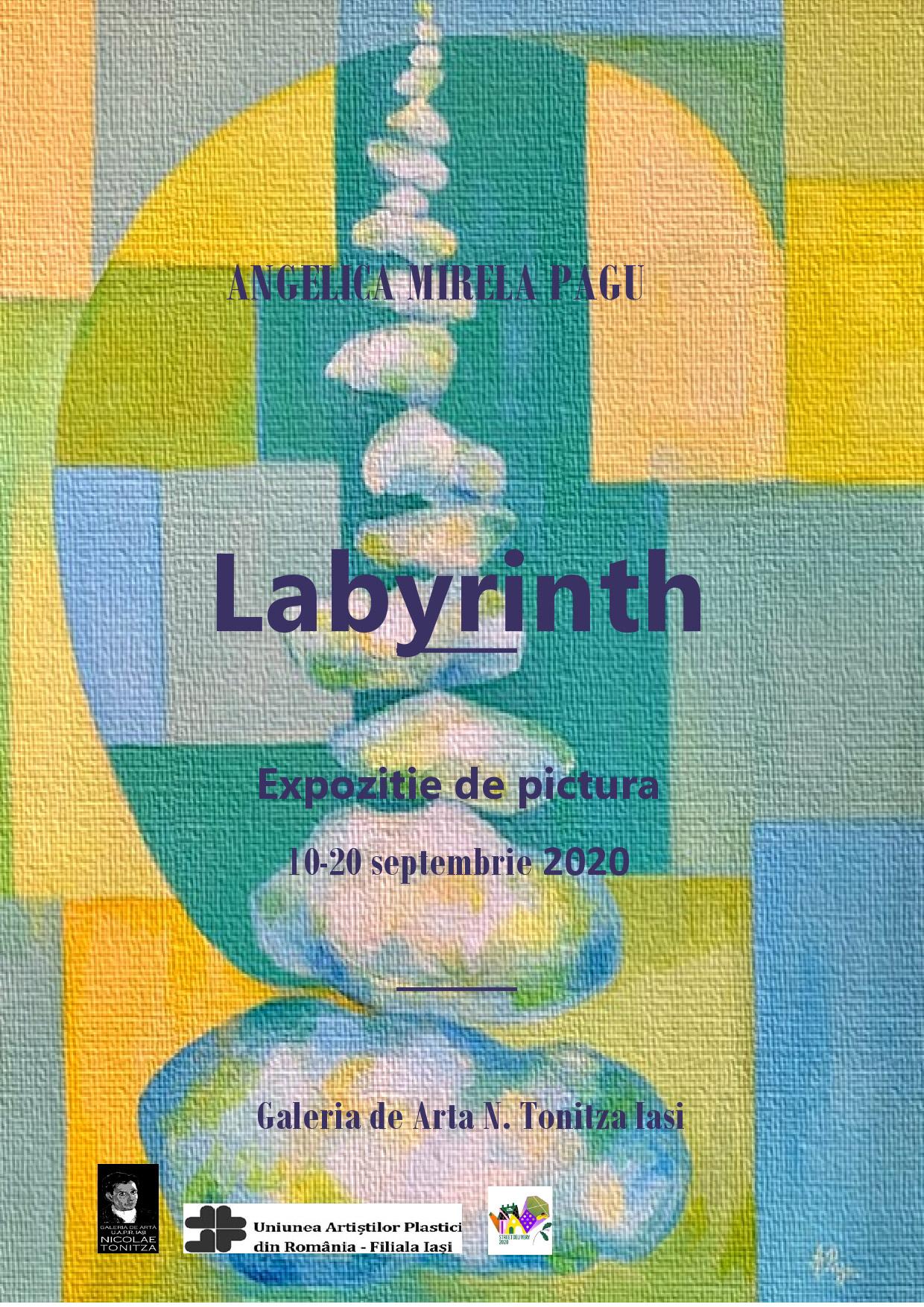 """Expoziție de pictură– ,,Labyrinth"""" – Angelica Mirela Pagu"""