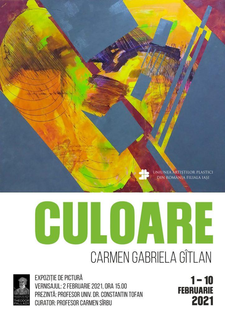 Expoziție de pictură Culoare – Carmen Gabriela Gîtlan