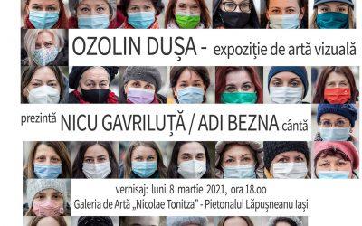 Expoziție de artă vizuală – Femeie, ochii tăi mă dor – Ozolin Dușa