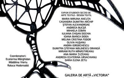 """Expoziția studenților secției de Arte Textile Design Textil, Iași """"Ultra Negru ediția a III-a"""