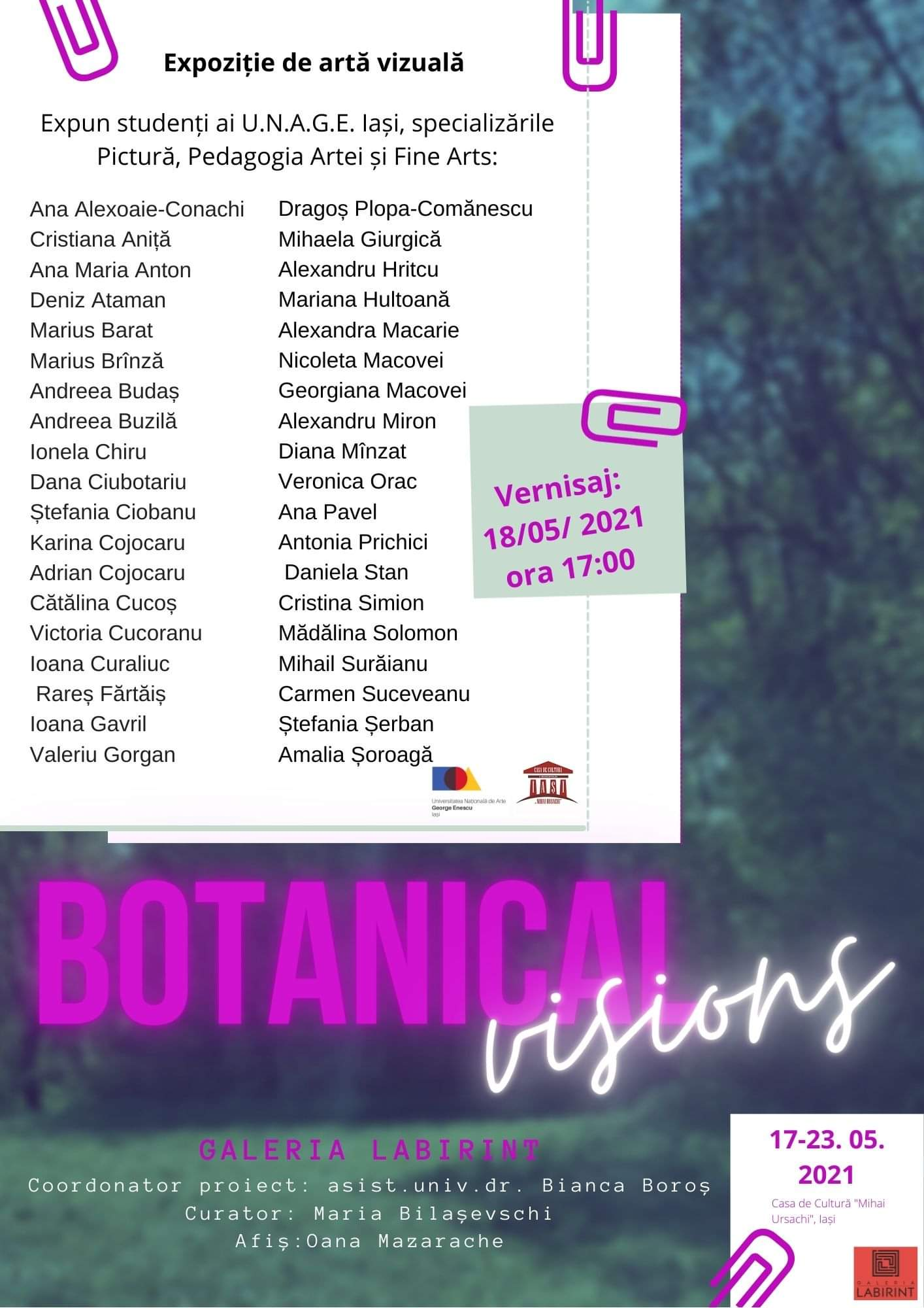 Expoziție de artă vizuală - Botanical visions