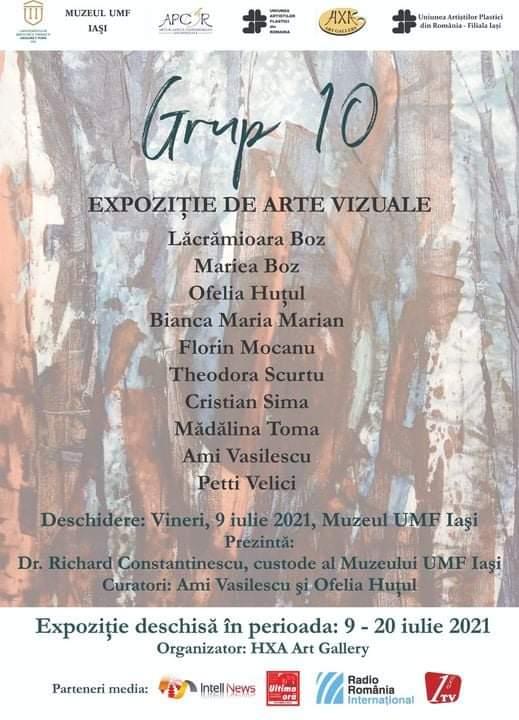 """Expoziție de artă vizuală - """"Grupa 10"""""""