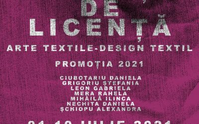 Expoziție de licență Arte Textile – Design textil, promoția 2021 UNAGE Iași