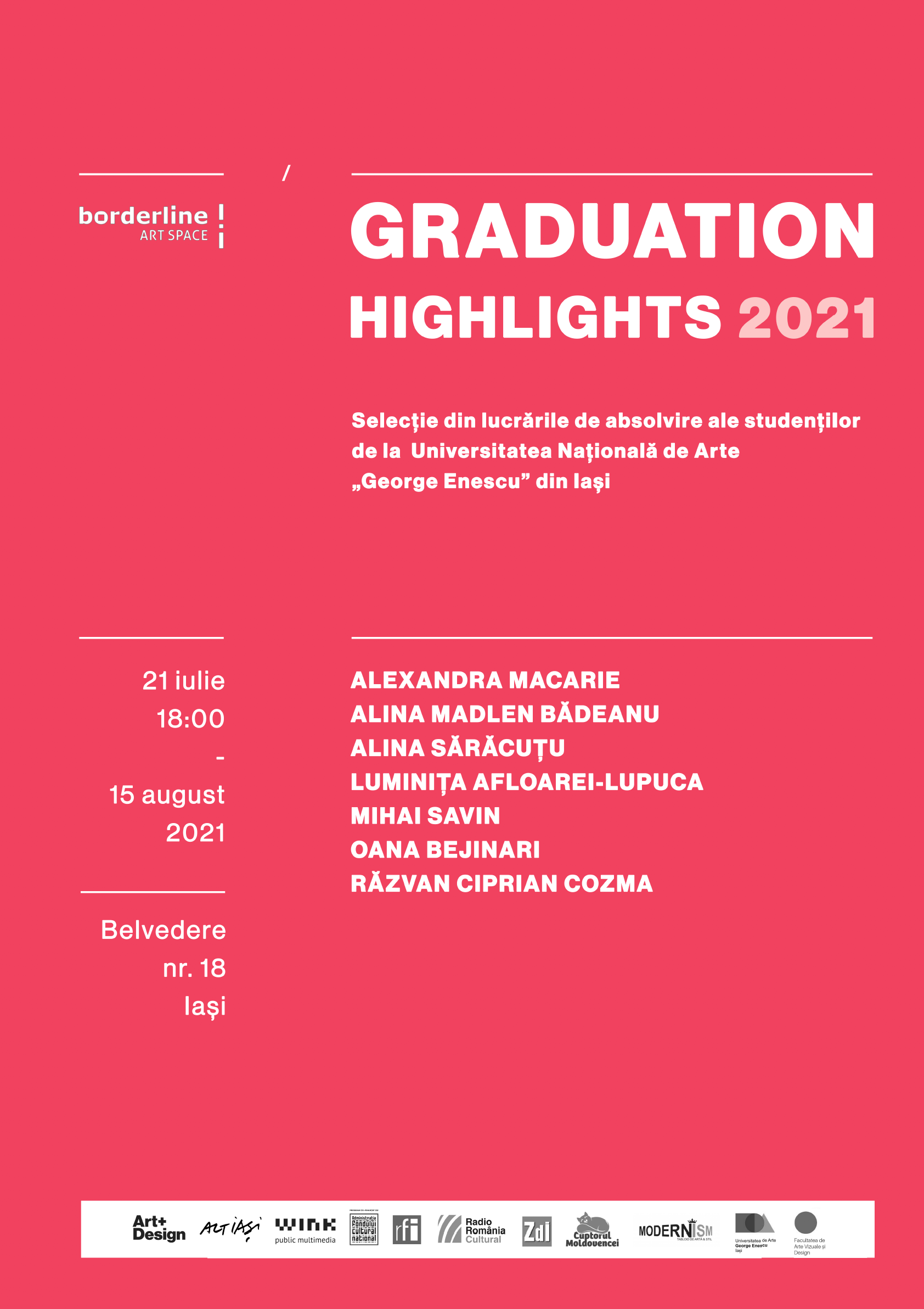Graduation Highlights 2021 – selecție din lucrările absolvenților UNAGE