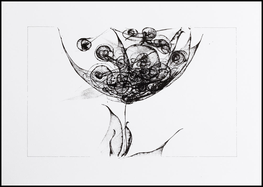 Memory 3 - ink on paper, 50x70 cm