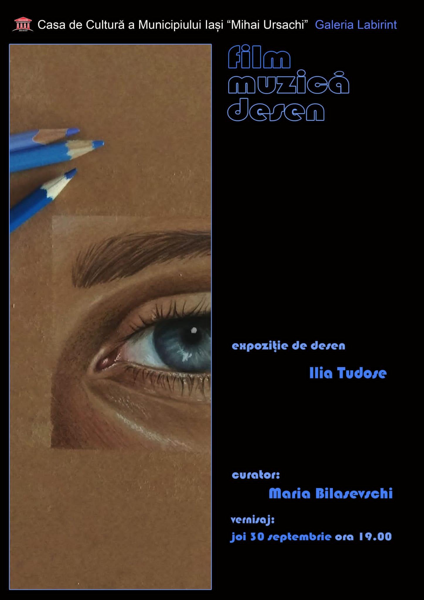 "Expoziție de desene - ""Film. Muzică. Desen"" – Ilia Tudose"